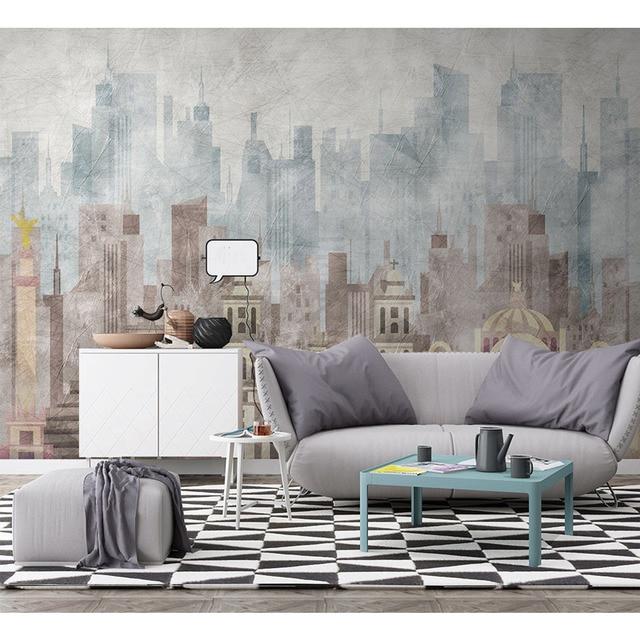 Carta Da Parati In 3d.Modern Wall Paper Geometric Architecture Photo Wallpaper Mural Carta