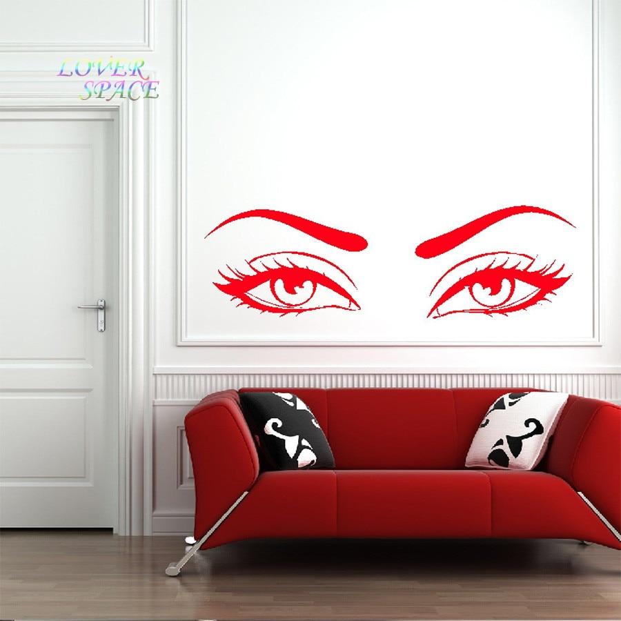 Eyes wall stickers wow modern beauty salon valentine wall decoration - Getsubject Aeproduct