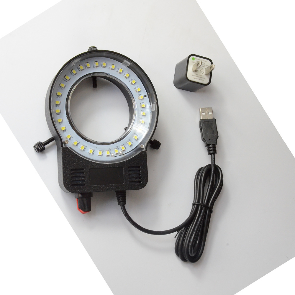 100V 250V 40000LM Microscope Adjustable USB LED Ring Light Illuminator Lamp For Stereo Microscope Excellent Circle Light