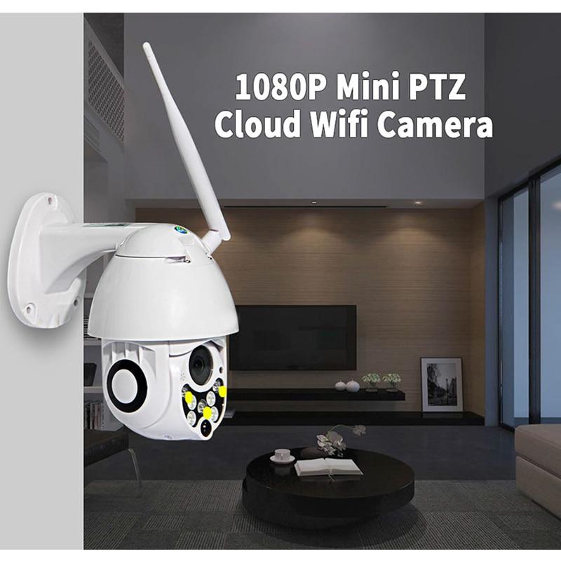 Outdoor IP66 Waterproof 1080P Wifi Wireless Mini IP PTZ Dome CCTV Camera With 5X Optical Zoom