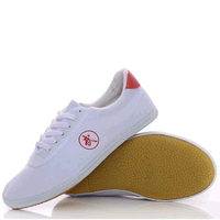 Vintage Chinese Unisex Kung Fu Shoes Cow Muscle Soles Martial Arts Wing Chun Canvas Footwear Breathable Tai Chi Shoes