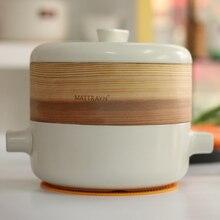 цена на High temperature ceramic pot soup pot casserole steamer health porridge cooking stew pot casserole send steamer