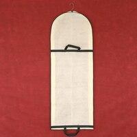 Portátil Dual use Longo 180 centímetros Não tecido Saco de Armazenamento Tampa Protetora Contra Poeira para o Vestido de Casamento Vestido de Noite proteção FC74|Capas p/ roupas| |  -
