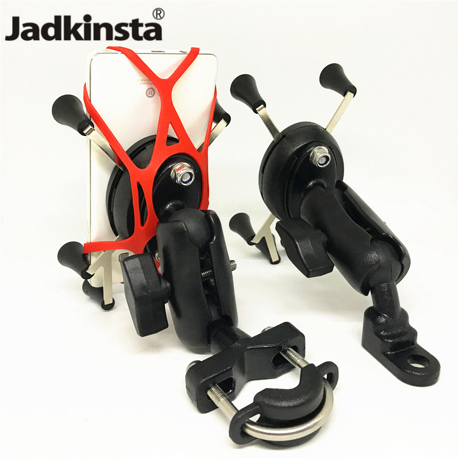 Jadkinsta Motorcycle Handlebar Rear Mirror Rail X-Grip for Gopro CellPhone Smartphone