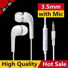 In ear Stereo Earphone Simple White Hifi Earbuds Sport Headset with microphone Earpods for Samsung Galaxy