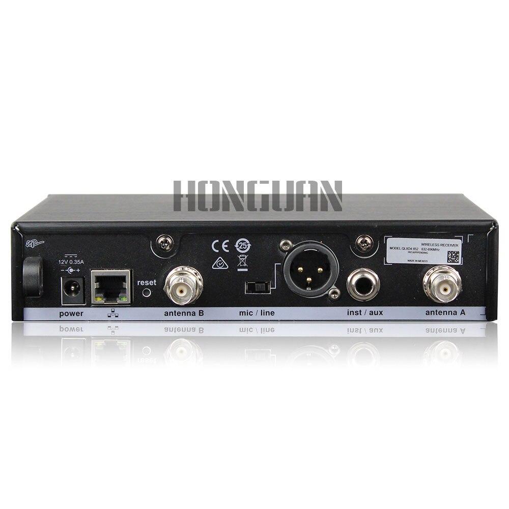 Nouveau! QLXD4 numérique vraie diversité UHF système de Microphone sans fil professionnel unique portable micro parfait son scène micro - 4