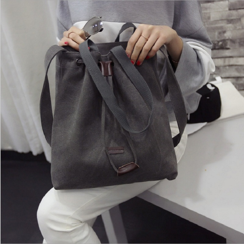 High Quality Canvas Women Handbag Casual Large Capacity Hobos Bag Hot Sell Female Totes Bolsas Trapeze