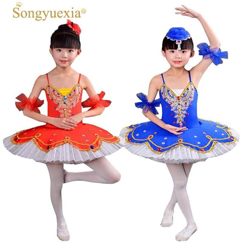 SONGYUEXIA femme enfants cygne Ballet jupe lac des cygnes professionnel ballet tutu robe ballet costume pour filles 4 couleurs