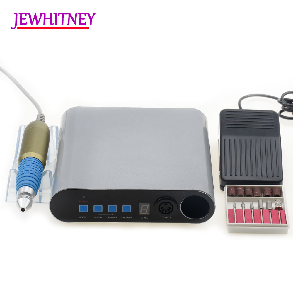 Jewhiteny 30000RPM Electric Nail Drill Machine for Manicure Pedicure Drill Set of Nail milling cutters Nail Tools Accessory nail cutters set with bag