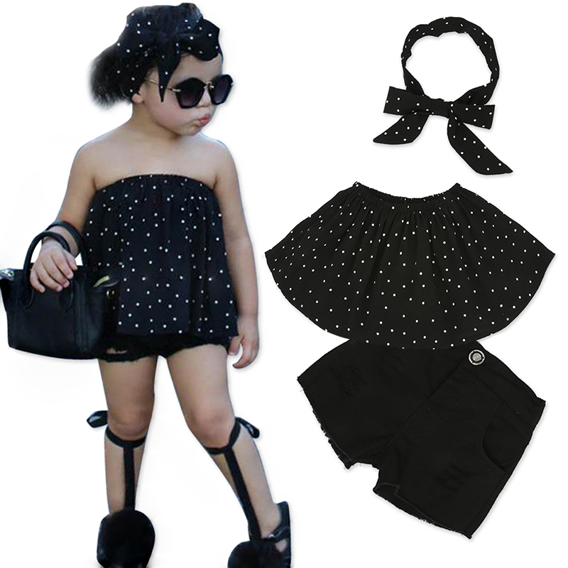 Children Sets for Girls Fashion 19 New Style Girls Suits for Children Girls T-shirt + Pants + Headband 3pcs. Suit ST307 63