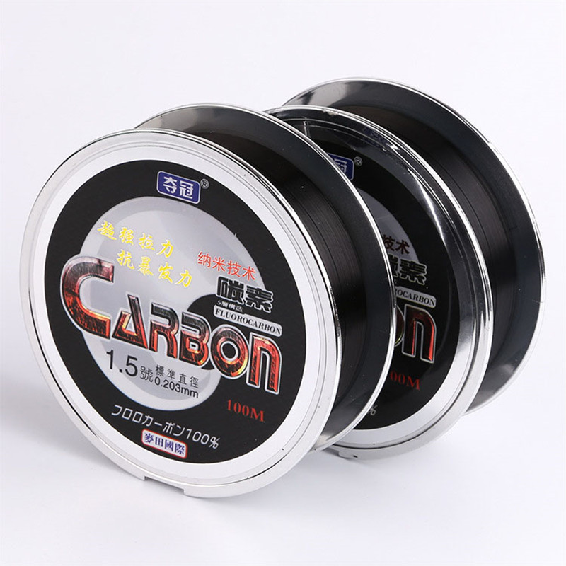 Ny Ankomst Nylon Fluorocarbon Fishing Line 100m Materiale Carp Sea Fishing Line For Reel Extreme Strong Fishing Tackle