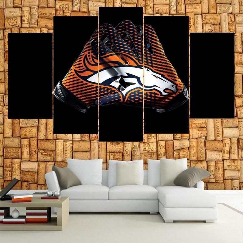 Classic Logo Denver Broncos Boys Room Canvas Painting