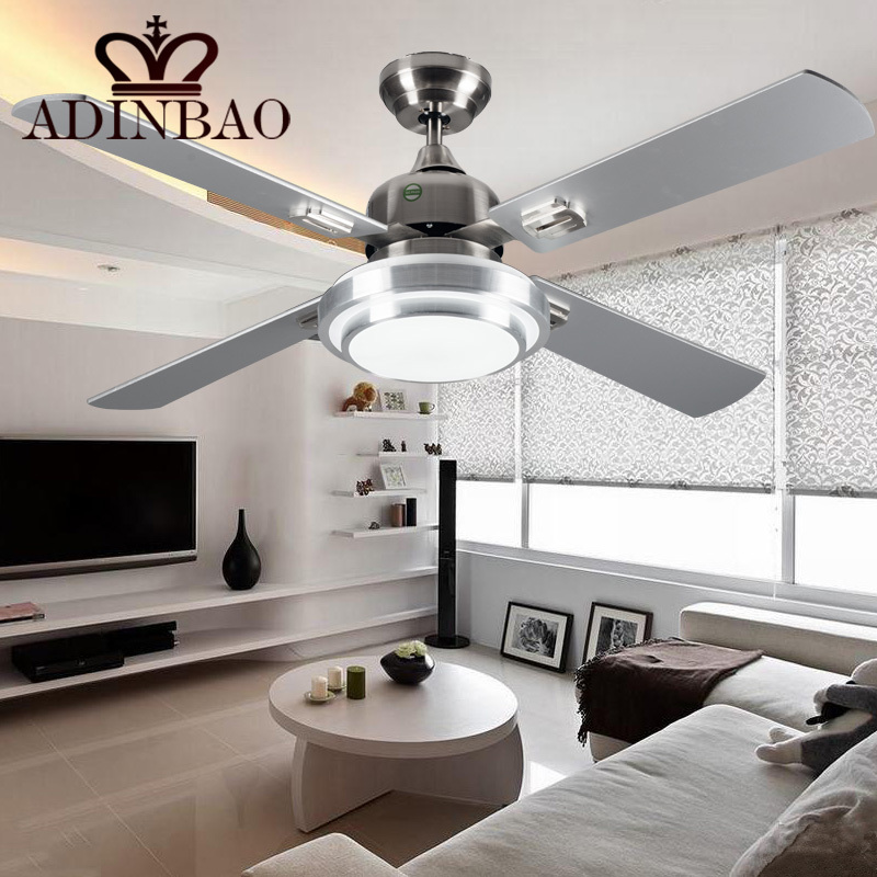 modern silver color ceiling fans industrial bright ceiling fan light xj063china mainland