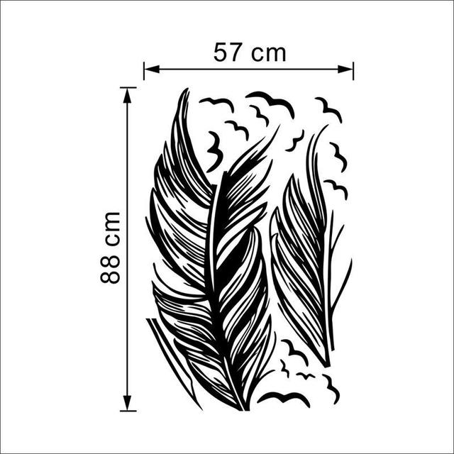 Big Flying Feather Wall Sticker