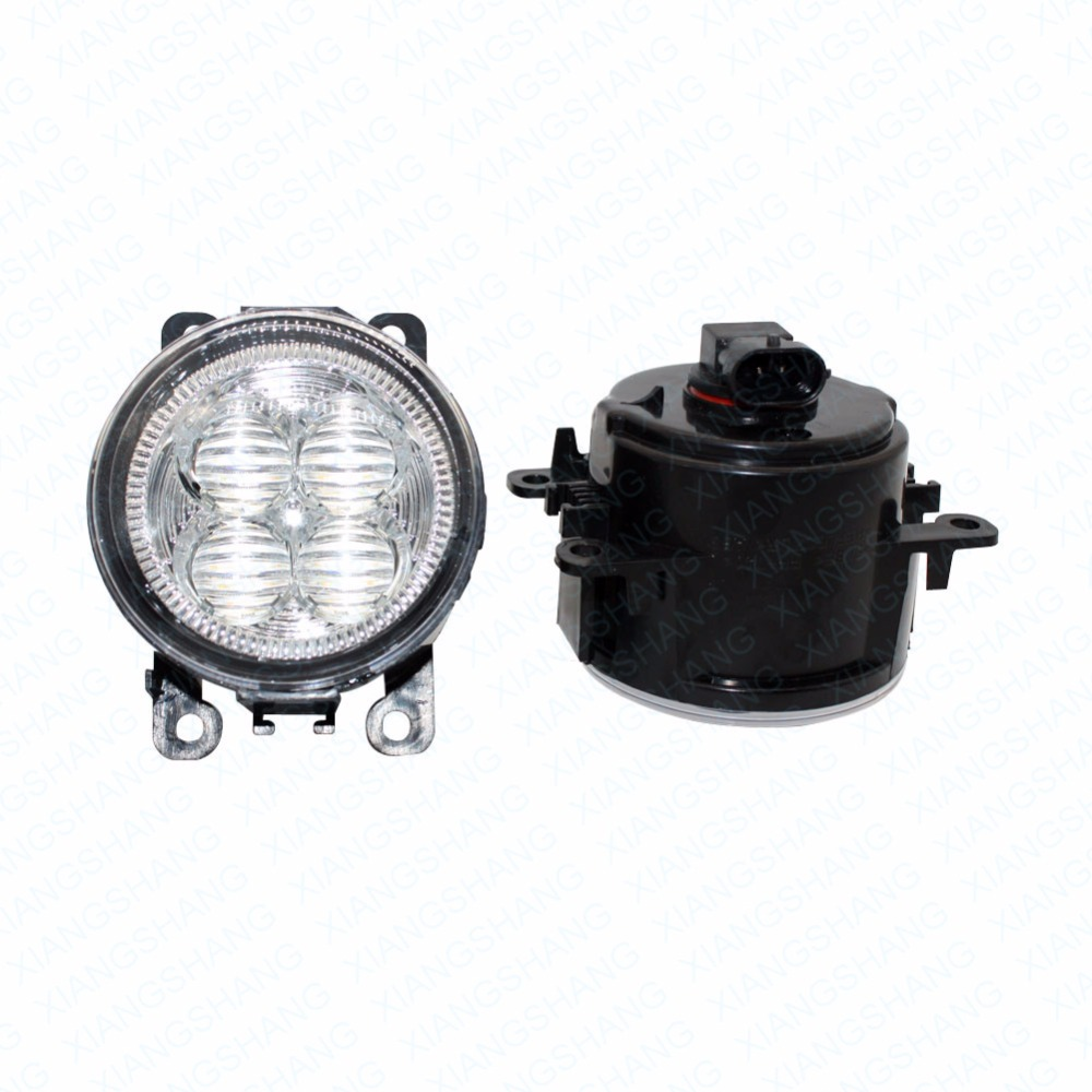 LED Front Fog Lights For MITSUBISHI PAJERO IV V8_W V9_W Closed Car Styling Bumper High Brightness DRL Driving fog lamps 1set car styling front bumper led fog lights high brightness drl driving fog lamps 1set for ford c max fusion 2013 2014