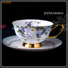 1 pcs Europe Noble Bone China Coffee Cup Saucer Spoon Set Luxury Ceramic Top-grade Party Drinkware 5ZDZ482