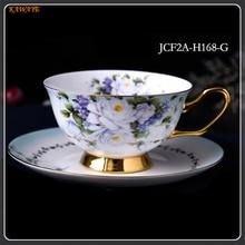 1 pcs Europe Noble Bone China Coffee Cup Saucer Spoon Set Luxury Ceramic Top-grade Party Drinkware 5ZDZ482