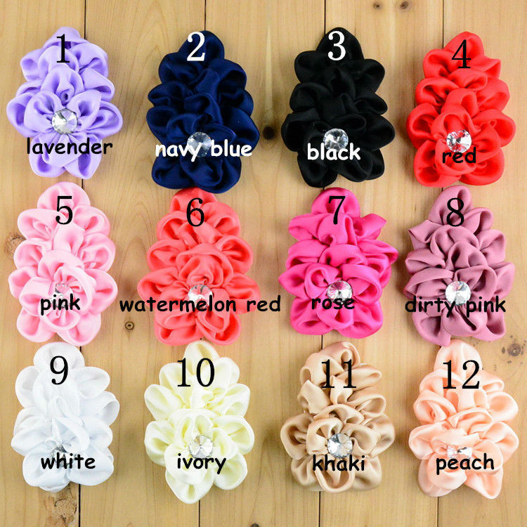 Wholesale 70pcs lot High Quality Multilayers Fabric Chiffon Flowers For girls Girls Headband Hair Accessories FH13