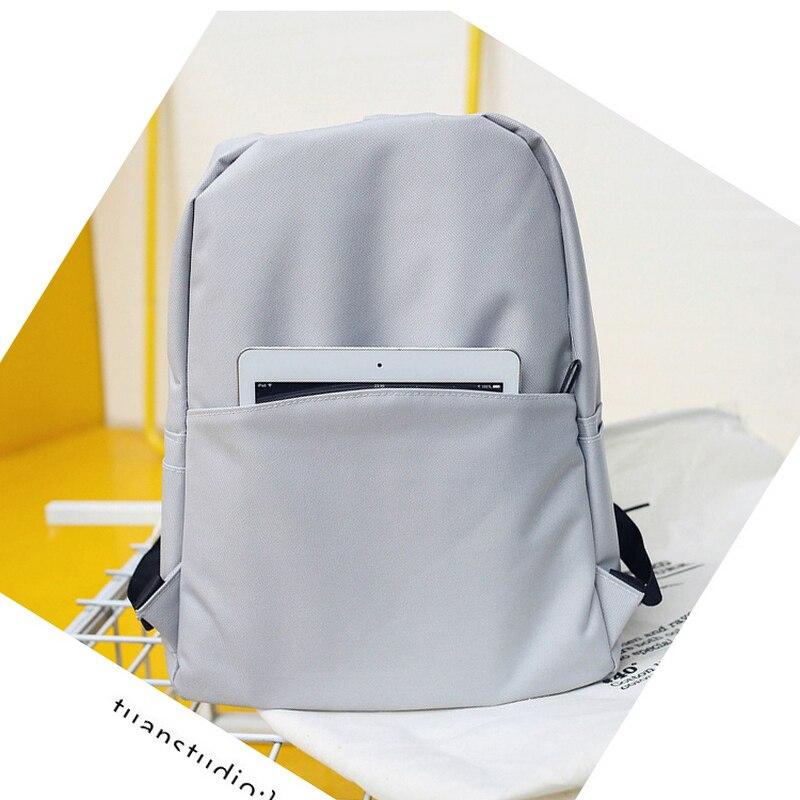Solid Backpack Girl School Bags For Teenage College Wind Women Schoolbag High Student Bag Black Nylon Printing #2