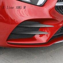 Автомобиль Стайлинг для Mercedes Benz класс A180 A200 головы накладка на Противотуманные фары рейки авто огни крышка Стикеры украшения отделка Аксессуары