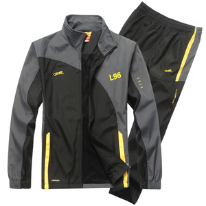 Image 2 - YIHUAHOO Marke Trainingsanzug Männer Zwei Stück Kleidung Sets Casual Jacke + Hosen 2PCS Track Anzug Sportswear Sweatsuits Mann LB1601