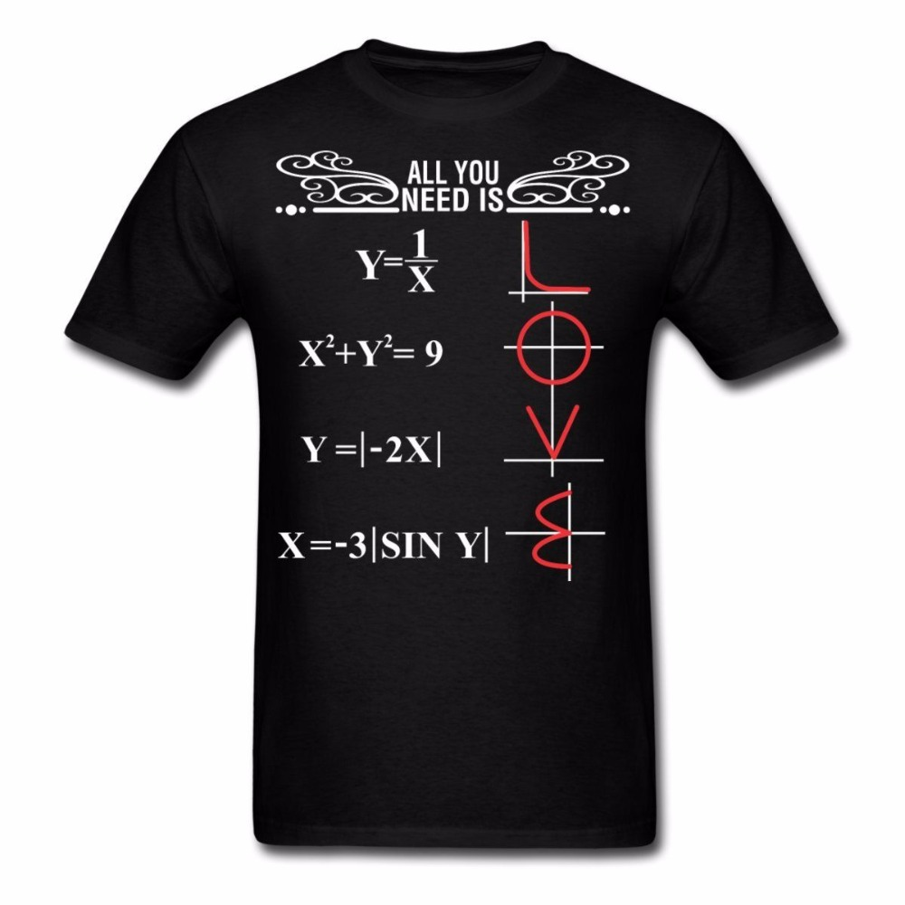 tshirt homme 2017 new new arrival men 39 s short mathematics all you need is love men 39 s t shirt tee. Black Bedroom Furniture Sets. Home Design Ideas