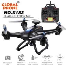 NEUE Globale Drone X183 Mit 5 GHz WiFi FPV 1080 P Bild GPS Brushless Quadcopter Pro GPS Einem schlüssel Folge mir funktion aircraft