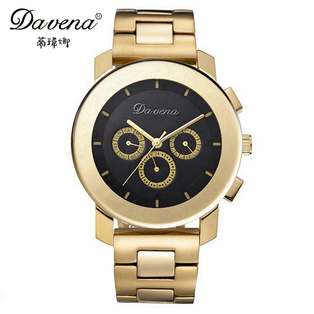 New Good Quality Steel Wristwatch Women Dress Sports Watches Fashion Casual Quartz Watch Luxury Brand Davena 60819 Best Clock free drop shipping 2017 newest europe hot sales fashion brand gt watch high quality men women gifts silicone sports wristwatch