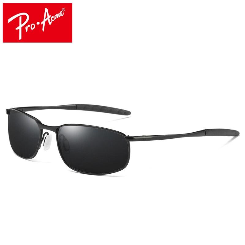 Pro Acme de los hombres de la marca gafas de sol polarizadas rectángulo de conducción espejo deporte gafas de sol de PA0926