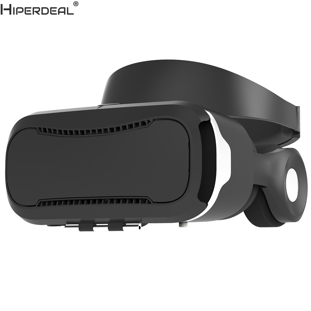 HIPERDEAL VR Box Virtual Reality 3D Glasses Cardboard Movie Game For Samsung For iPhone Movie Game Black VR Headset VR Box