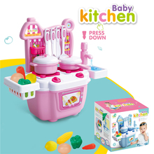 Bargain Price Kitchen Toy Set Kids Simulation Kitchen Toys Baby Kitchen Toys Set With Light & Sound Red Baby Pretend Play Gifts цена