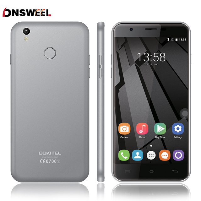 2016 NEW Oukitel U7 Plus Smart Phone MT6737 Quad Core 4G Fingerprint ID cell phone 2G RAM 16G ROM 13.0MP Android6.0 mobile phone