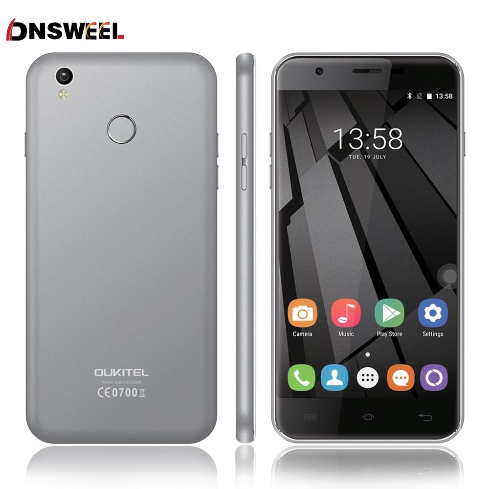 Oukitel U7 Plus MT6737 Quad Core 4G Fingerprint ID 2G RAM 16G ROM 13.0MP Android 6.0 mobile phone