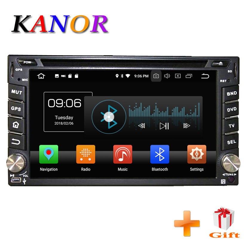 KANOR Android 8.0g 2 4 + 32 Din Rádio Do Carro Universal Para Nissan Hyundai Qashqai Navara X-trail gravador Cassete 2din Pathfinder