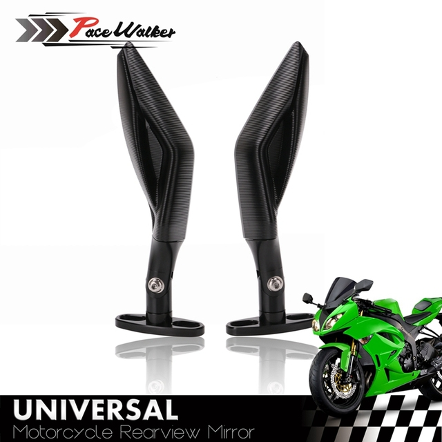 ユニバーサルオートバイのバックミラーフル Cnc アルミレーサーヤマハ R3 R6 FZ6 tmax530 kawasaki Z750R Z1000 KTM