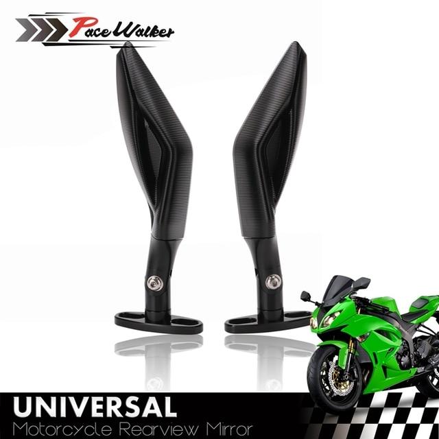 Universal Motorcycle Rearview mirror Full CNC aluminum Racer For Yamaha R3 R6 FZ6 tmax530 kawasaki Z750R Z1000 KTM