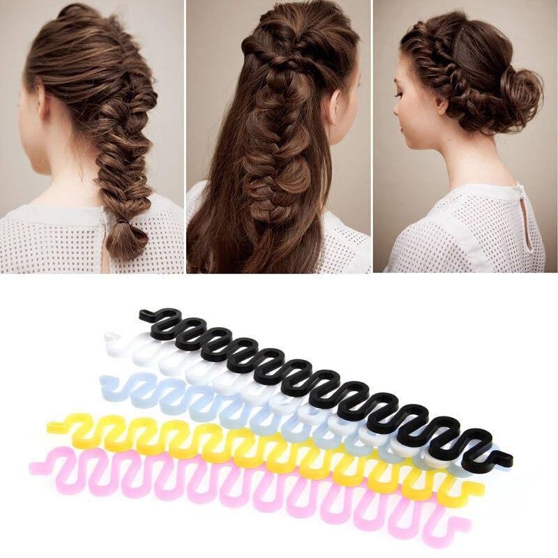 2Pcs Chic Women Hair Styling Clip Stick Bun Maker Braid Tool Hair Accessories
