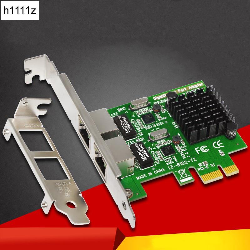 High Quality Network Card Gigabit Ethernet PCI-Express Network Card 1000M PCIE 2 Port RJ45 NIC Server Lan Adapter For PC Desktop