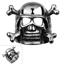 Hot Charm Heart Skull Men's Stainless Steel anelli uomo Chic Stylish Beauty US Size 8 Gift TO Boyfriend