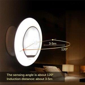 Image 5 - Czujnik ruchu Nightlight dzieci 360 stopni lampa obrotowa z czujnikiem ruchu kształt UFO akumulator lampy zasilany led lampka nocna