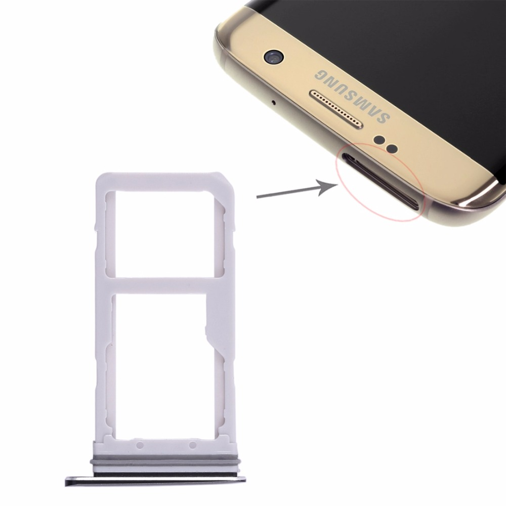 2 SIM Card Tray / Micro SD Card Tray for Samsung Galaxy S7 Edge image