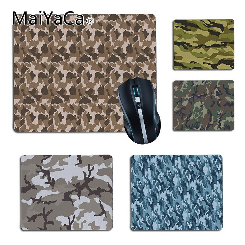 MaiYaCa Cool New Cool Camouflage Computer Gaming Mouse mats Size 25x29cm 18x22cm Rubber Mousemats