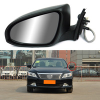 Savanini 9 Pins Exterior Side Automatic Folding Power Adjustable&Heated Glass LED Turn Signal Mirror For Toyota Camry 2012 2013