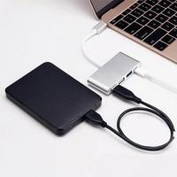 Nieuwe Type C 4-Port USB 3.0 Hub OTG Charger Kabel Adapter Multipoort Converter voor Telefoon Notebook Type-C PD EM88
