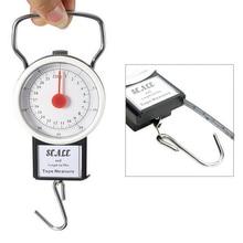 22 кг многофункциональные мини-весы для багажа с циферблатом портативные весы с 1 м рулеткой Измерительные весы FKitchen весы с крючком весы