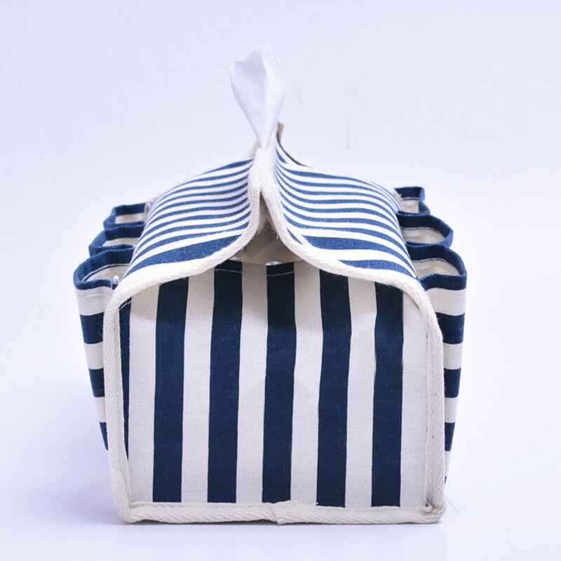 Faixa de Tecido de Algodão e linho 6 Bolso Tipo de Banco de decoração para casa caixa de Tecido Casa de Carro tecido Caixa guardanapo titular para toalhas de papel