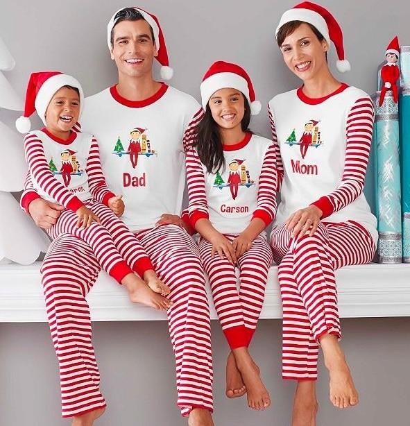 Familia A Juego Ropa Pijamas De Navidad Padre Madre Hija Hijo Ropa