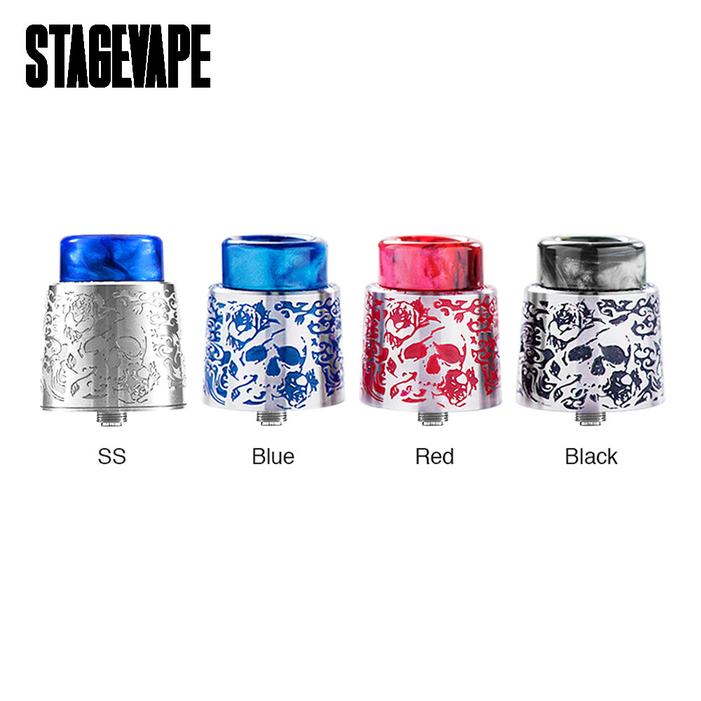 Original StageVape Venus RDA Tank 24mm Diameter Venus RDA Atomizer with 810 Resin Drip Tip & BF Pin Suit Squonk MOD Vaping Tank original new 10 1 unusual 10m tb 10m touch screen touch panel glass digitizer replacement free shipping