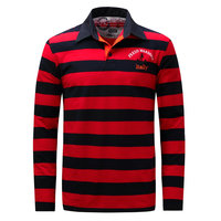 Fredd Marshall Striped Long Sleeve Polo Shirts Men 2017 Autumn And Winter Hit Color Casual Crude