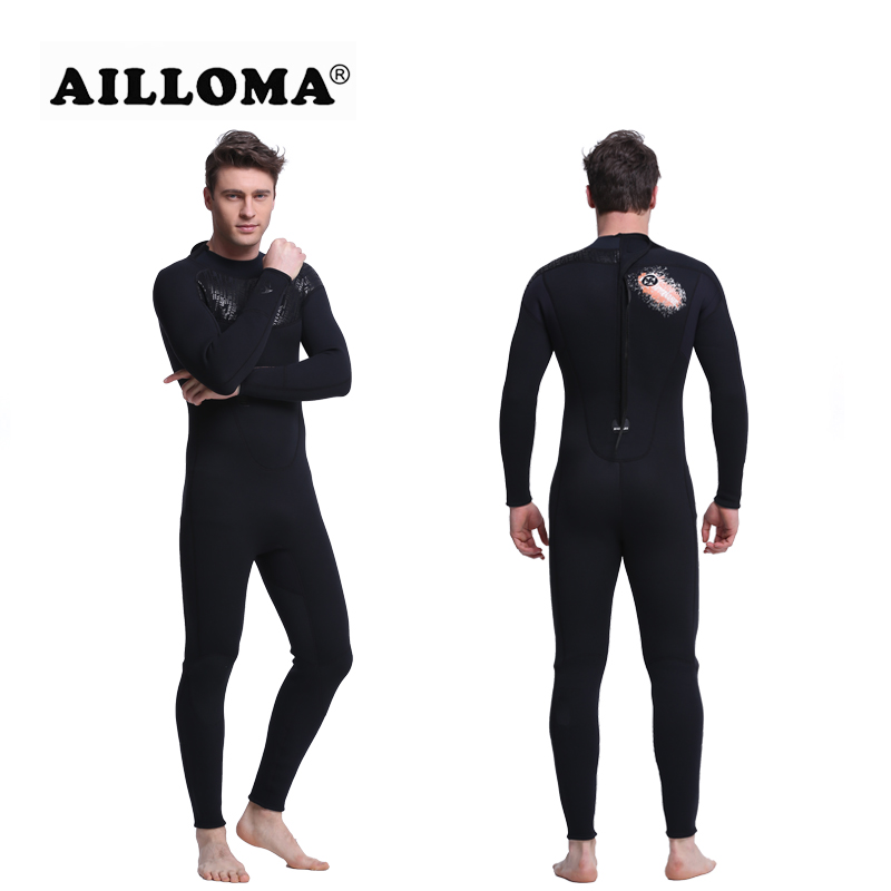 AILLOMA 3MM Men Diving Wetsuit Snorkeling Surfing Swimwear Jumpsuit Triathlon Microvillus Long Men Scuba Dive Jacket Suit slinx 1106 5mm neoprene scuba diving fleece lining wetsuit snorkeling surfing swimwear jumpsuit triathlon microvillus jellyfish